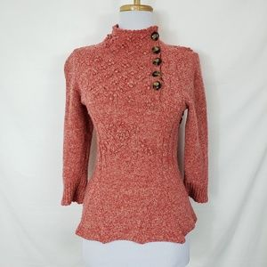 Moth Innovation Mock Neck Marled Sweater Sz S